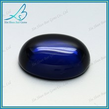 Oval Glass Blue Semi Precious Cabochon Gemstone