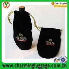 velvet drawstring gift wine bag 100/wholesale wine bottle bag