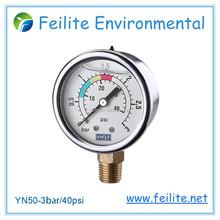 pressure gauge, bourdon tube pressure gauge, oil pressure gauge