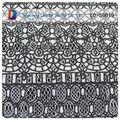 2014 venta al por mayor de alta calidad burn out gris de tela de encaje en web de rollos de papel para la ropa de moda