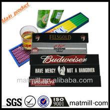 Logo printed custom PVC bar rail mat branded bar mats use in pub with EN71/SGS/REACH