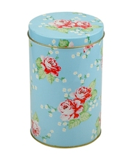 High quality round tinplate can, empty custom printed metal tea/ coffee tin can