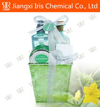 OEM Skin Cosmetic Bath Gift Sets, Bathroom Amenity Sets With Bath Ball and Waffle Towel