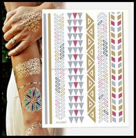 2015 fashion flash tattoo design ,glow temporary tattoo sticker wholesale for women
