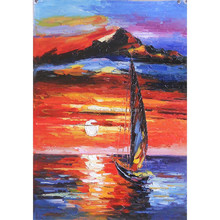 Natural Scenery Handmade The Sunset art oil painting on canva