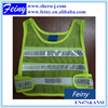100%polyester mesh fluorescent green child high visible vest
