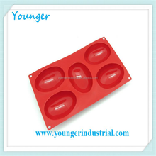 Younger Company food grade 6 cups house shape cake molds Silicone muffin mold Silicone soap molds