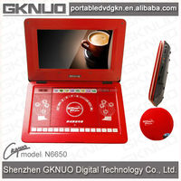 Rechargeable Portable DVD Player With USB/Card Reader/TV tuner