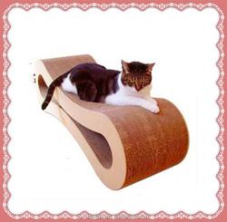 corrugated paper board cat scratcher