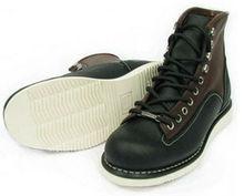 el punto más alto de los hombres con estilo de trabajo de seguridad zapatos de cuero