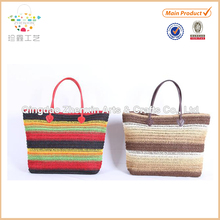 cotton & paper straw tote bag for women the best seller lady paper crochet bag