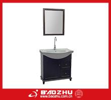 Dark walnut Bathroom vanity(BZ715) Top quality high end ikea bathroom cabinet