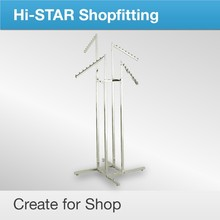 Easy install clothing display stand for store