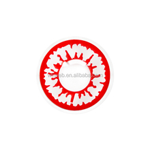 china OEM stunting red edge with white two tones crazy contact lenses