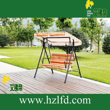 Hot sale outdoor garden iron double child canopy swing