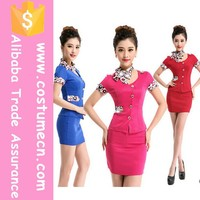 2015 New Arrival Hot Design Elegant Office Uniform Design