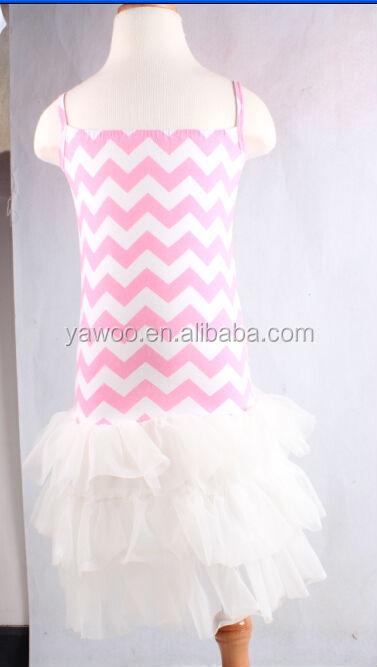 encantador lindo beb vestido casual vestido de lujo diseo para las nias chevron algodn con gasa