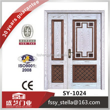 fancy exterior solid wood primary and secondary entry doors
