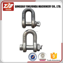 High Quality Marine Rigging Hardware Stainless U.S. Bolt Type Chain Shackles