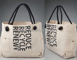 Hot good storage unique canvas tote bag