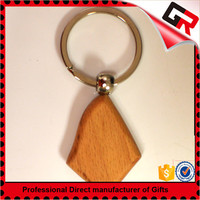 Classic style custom cheap wood keyring
