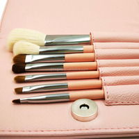 Best 7 pieces horse hair white makeup brush foundation brush