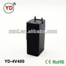 4 volt 400mah rechargeable sealed lead acid battery