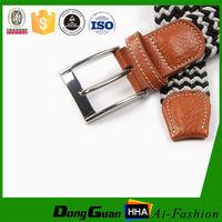 Men and women hot sex western elastic braided belts