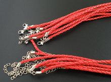 """20 шт. 17 """" красный плетеные плетение ожерелье шнуры оптовая продажа, Настроить"""