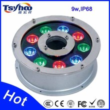 High quality RGB 12w led underwater light with CE/RoHS approved led pool lights
