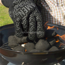 Outer aramid double gloves lined with 100% cotton bbq gloves light weight flexible gloves.