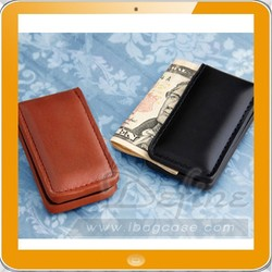 Fashion Hot Leather Money Clip for Businessmen