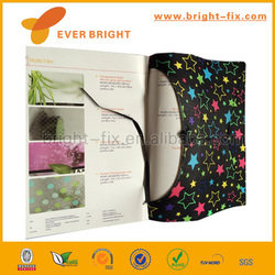 Promotion stretchable fabric book cover with customized design
