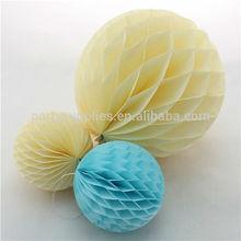decoraciones de la boda al por mayor pulgadas un pañuelo de nido de abeja de bolas de navidad para la cumpleaños de baby shower