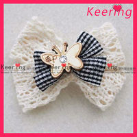 wholesale wooden butterfly and rhinestone decoration for hair bows WFL-080