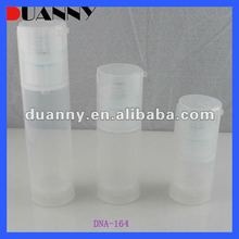 Plastic colorful airless pump bottle for 3 volume