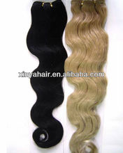 Good quality competitive price indian hair tracks hair extension