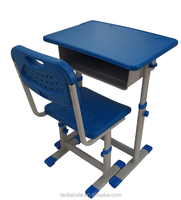 LB new design hallow blow molding school desk and chair