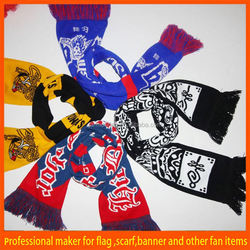 sports fans woven england football team scarf