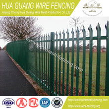 alibaba china manufacture garden and home decorative cheap used pvc powder and hot dipped galvanized steel palisade fence