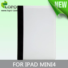 DYE sublimation printing leather flip case for IPAD MINI 4