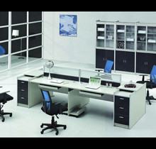 laminate office desk simple design office furniture made in china HJ-9268