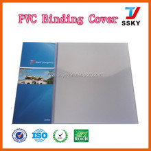 A3 clear transparent hard plastic pvc binding material book cover