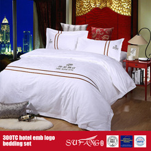 100Cotton Embroidery Hotel Logo Bedding Set Hotel Linen Size