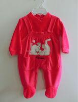 2015 new design comfortable velvet baby romper, baby clothes