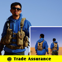 Outdoor Equipment Multi-pocket Fishing Vest Military Vest with Emergency Water Bag