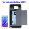 Wholesale China Slide Style Plastic and Silicone Back Card Slot case for samsung note 5 phone accessory