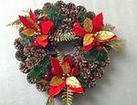 "Wholesale christmas wreath decorations plastic christmas wreath/16"" Christmas Wreath, Pinecone Wreath"