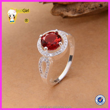 Natural fashion jewelry engagement ring with stone ruby engagement ring ruby ring