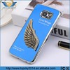Rhinestone mobile phone case metal 3D case for Samsung Galaxy S6 love wings